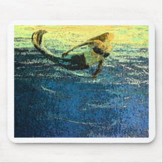 Mermaid Greeting the Dawn Mouse Pad