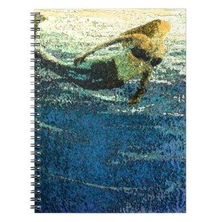 Mermaid Greeting the Dawn Notebook