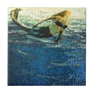 Mermaid Greeting the Dawn Tile