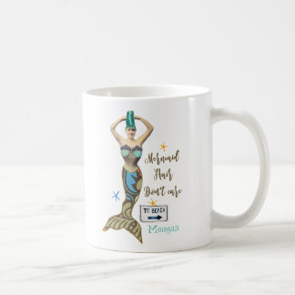 mermaid hair don't care add your name mug