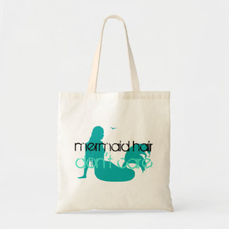 Mermaid Hair Don't Care Quote Teal Beach Vacation Tote Bag