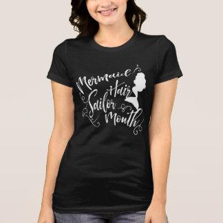 Mermaid Hair Sailor Mouth Black T-Shirt