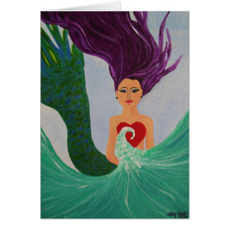 Mermaid Heart Card