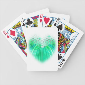 Mermaid heart with scale art bicycle playing cards