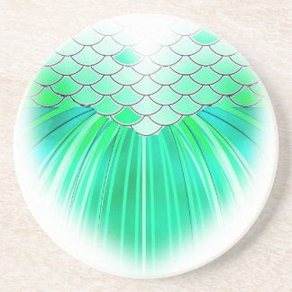 Mermaid heart with scale art coaster