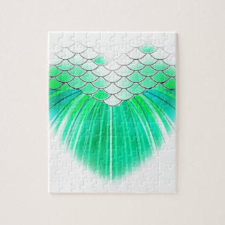 Mermaid heart with scale art jigsaw puzzle