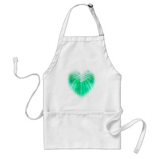 Mermaid heart with scale art standard apron