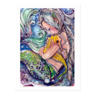 Mermaid Hugs Postcard