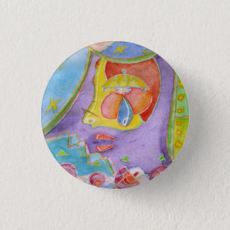 Mermaid in my kitchen 3 cm round badge
