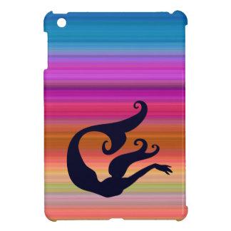 Mermaid in Sea of Stripes iPad Mini Case
