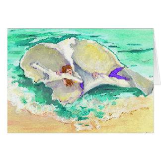 Mermaid in Shell Card