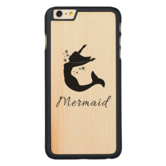 Mermaid in Silhouette Carved® Maple iPhone 6 Plus Case