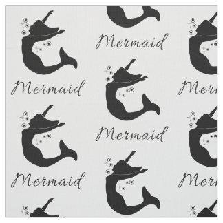 Mermaid in Silhouette Fabric