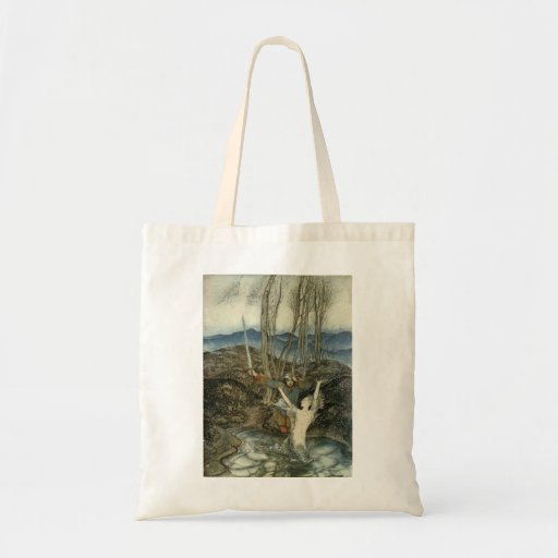 Mermaid in the Pond Canvas Bag