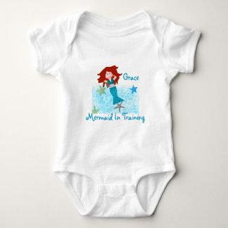 Mermaid In Training Baby Bodysuit