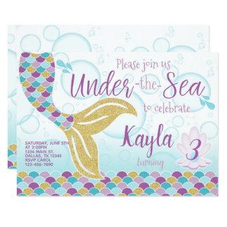 Mermaid Invitation, Mermaid Birthday Invitation