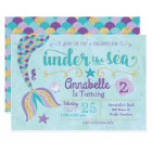 Mermaid Invitation Under The Sea Invite