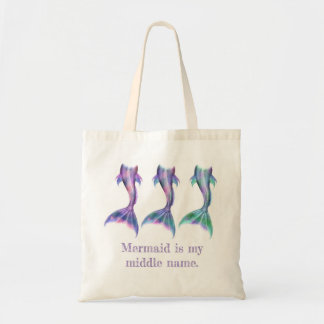 Mermaid is my middle name tote bag