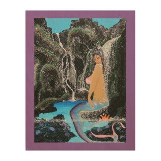 Mermaid lagoon wood print