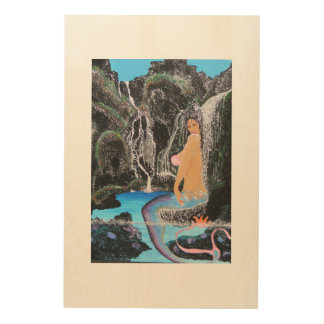 Mermaid lagoon wood print