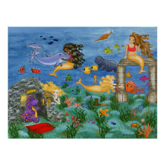 Mermaid Magic Poster