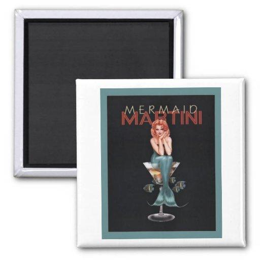 Mermaid Martini Refrigerator Magnet