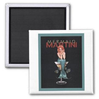 Mermaid Martini Square Magnet