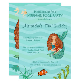 Mermaid & Mercat Birthday Party Invitation