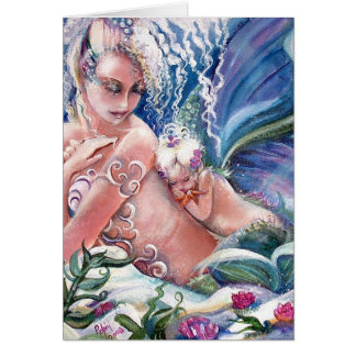 Mermaid Mommy & Baby Blank Card