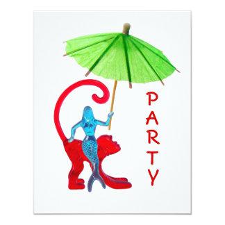 Mermaid Monkey Party Invite