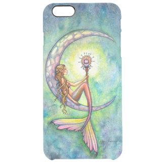 Mermaid Moon Fantasy Art Clear iPhone 6 Plus Case