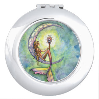 Mermaid Moon Fantasy Art Mirrors For Makeup