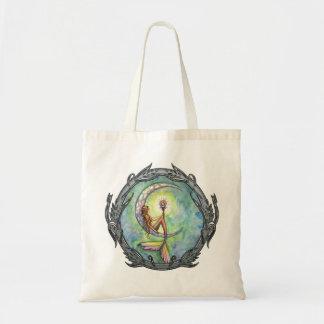 Mermaid Moon Fantasy Art Tote