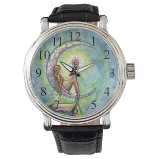Mermaid Moon Fantasy Art Watches