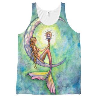 Mermaid Moon Mermaid Fantasy Art Illustration All-Over Print Singlet