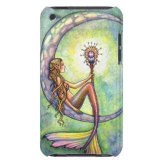 Mermaid Moon Watercolor Mermaid Molly Harrison Art iPod Touch Cases