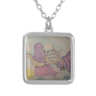 Mermaid Music Silver Plated Necklace