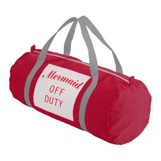 Mermaid Off-Duty Duffle Bag Gym Duffel Bag