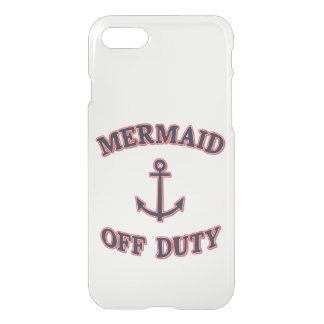 Mermaid Off Duty - Navy Blue Quote iPhone 7 Case