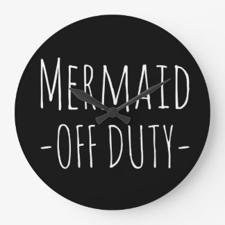 """Mermaid off duty"" Wall clock"