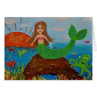 mermaid offerings card