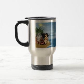 Mermaid on Beach  Travel Mug