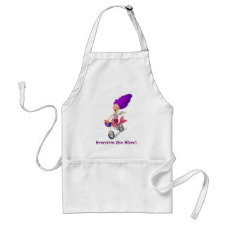 Mermaid on Bike Standard Apron