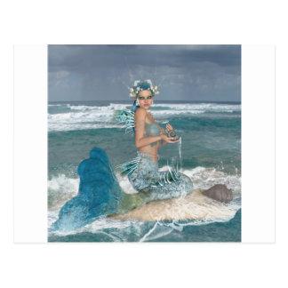 Mermaid on Rock Postcard
