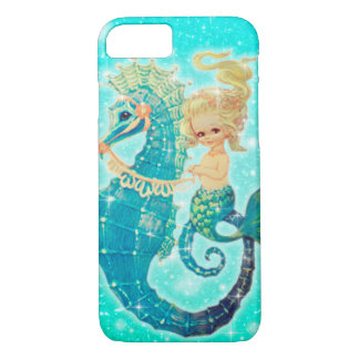 Mermaid on Seahorse Iphone case