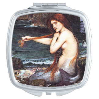 Mermaid On The Shore Makeup Mirrors