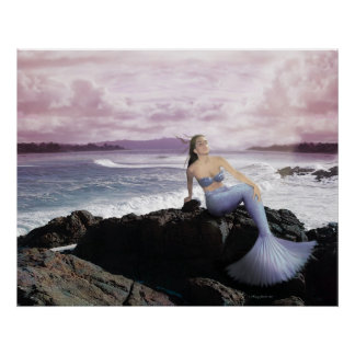 Mermaid On The Shore Poster