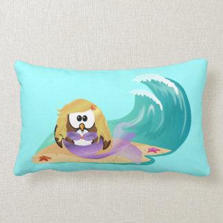mermaid owl lumbar cushion