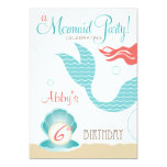 Mermaid Party     Birthday Invitations