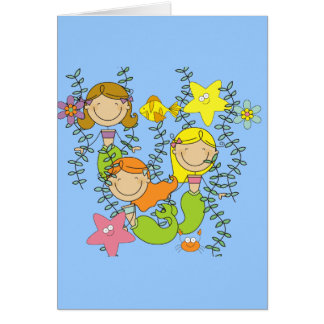 Mermaid Party Greeting Card